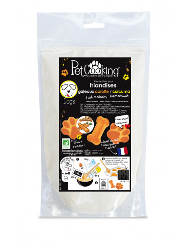 Préparation pour friandises gâteaux carotte-curcuma réf.P90256